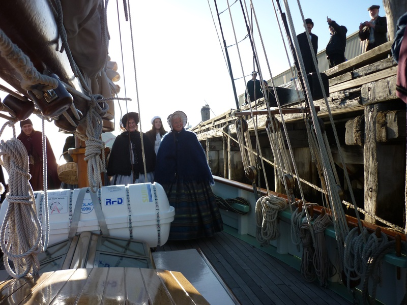 On board the Tall ship